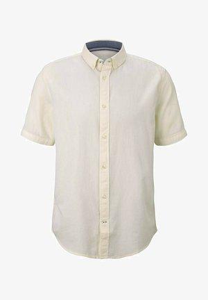 Shirt - yellow white structure