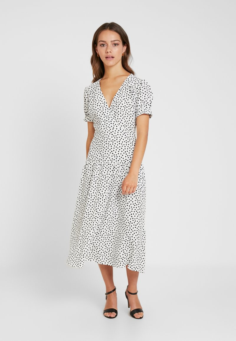 Topshop Petite - WHITE STARLIGHT PRINT DRESS - Day dress - white
