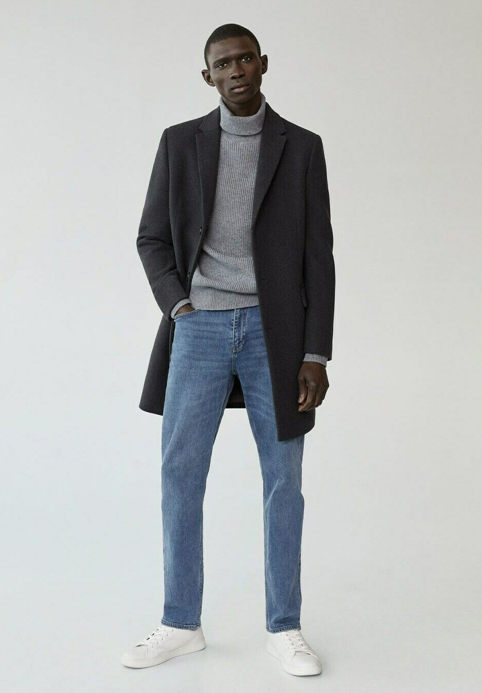 Men LONG RECYCLÉE - Short coat