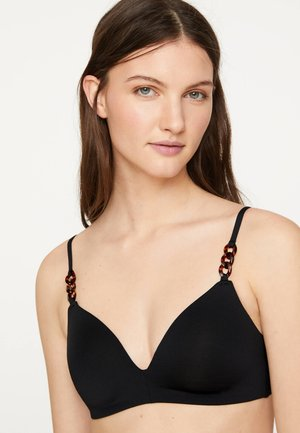 MIT PERLEN  - Bikini top - black