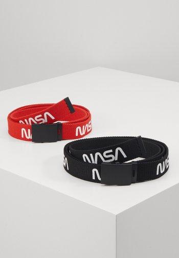 NASA BELT EXTRA LONG 2 PACK - Skärp - black/red