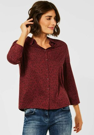 MIT PRINT - Button-down blouse - braun