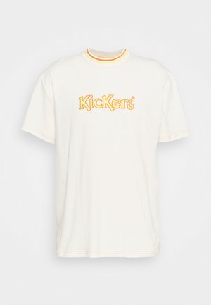 TEE WITH LARGE LOGO ON CHEST - T-shirts med print - ivory/yellow