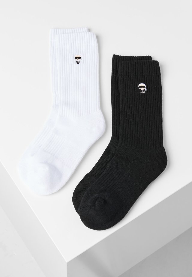 2 PACK - Chaussettes - black/white