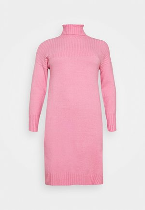 YOKE ROLL NECK SWEATER DRESS - Jumper - pink ice