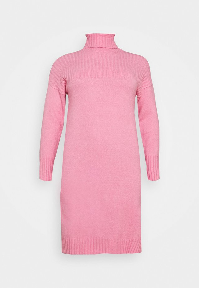 YOKE ROLL NECK SWEATER DRESS - Jumper - pink ice