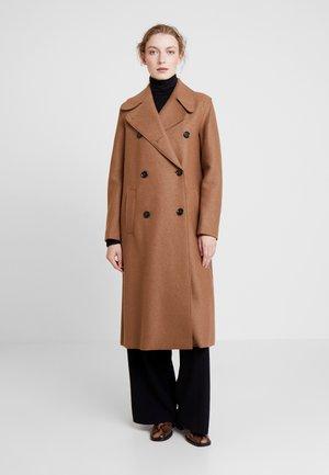 BOILED COAT DOUBLE BREASTED - Classic coat - moose caramel