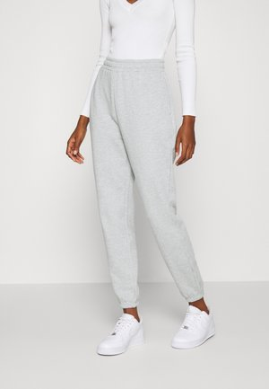 BASIC - Loose Fit Joggers - Tracksuit bottoms - mottled light grey