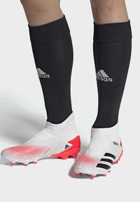 adidas Performance - PREDATOR 20.3 FIRM GROUND BOOTS - Moulded stud football boots - white - 0