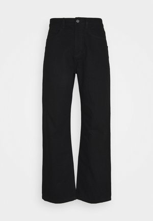 DECONSTRUCTED WIDE LEG - Relaxed fit jeans - black
