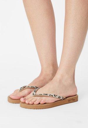 LEO - Pool shoes - camel