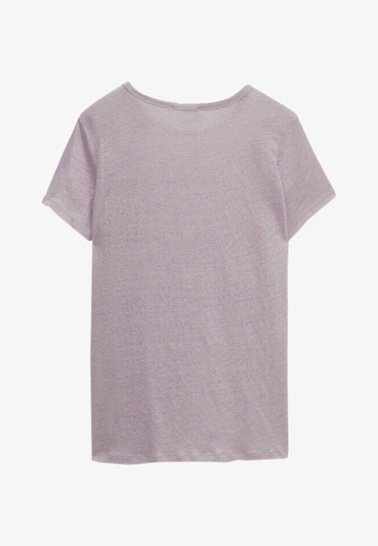 Massimo Dutti - T-shirt basique - dark purple