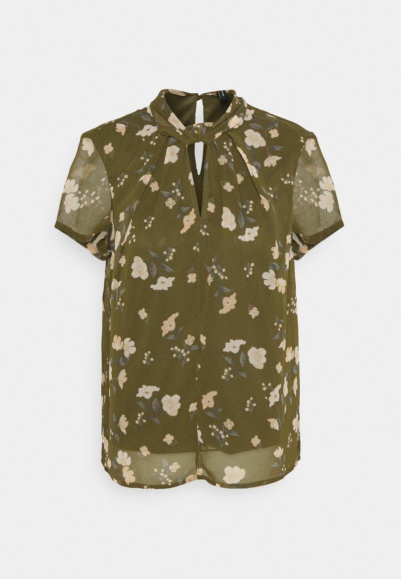 Vero Moda - VMZALLIE  - Print T-shirt - ivy green/zallie