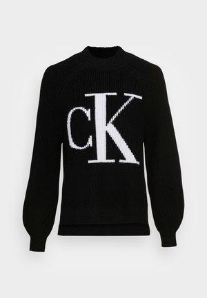 RAGLAN SWEATER - Pullover -  black/bright white