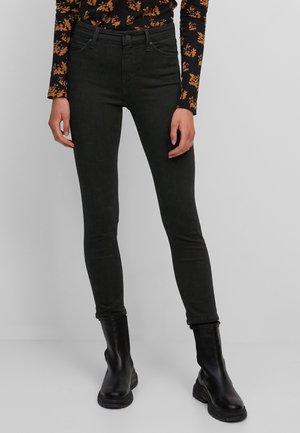 MODELL KAJ CROPPED HIGH WAIST AUS ORGANIC MIX - Jeans Skinny Fit - multi/worn out black