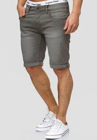 INDICODE JEANS - CUBA CADEN - Denim shorts - dark grey - 0