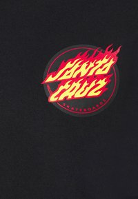 Santa Cruz - FLAMING JAPANESE DOT CREW UNISEX - Sweatshirt - black - 6