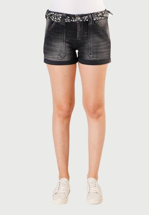 BLOOM - Shorts vaqueros - black / black