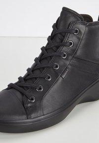 ECCO - SOFT  - Lace-up ankle boots - black/black - 5