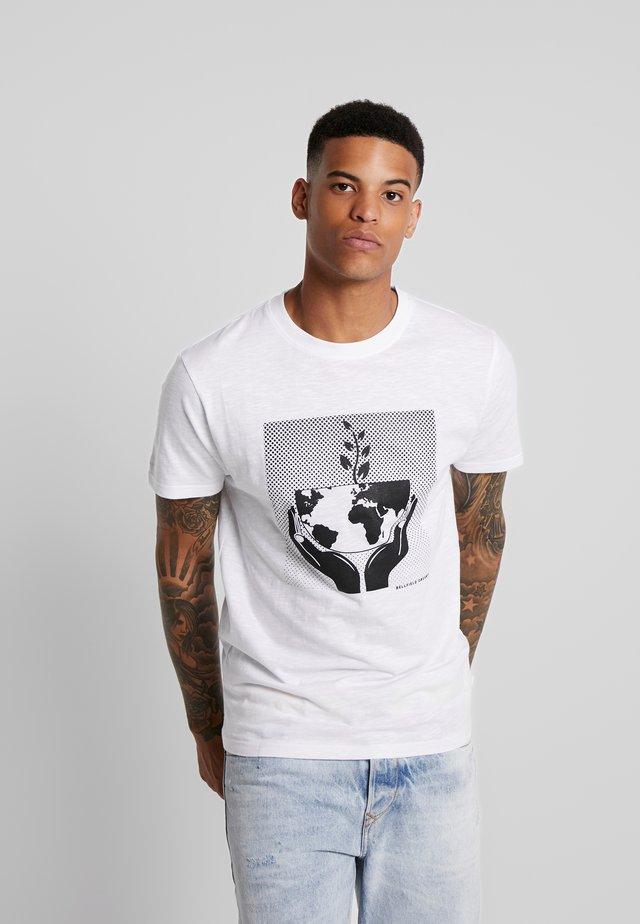 WORLD  - Camiseta estampada - white