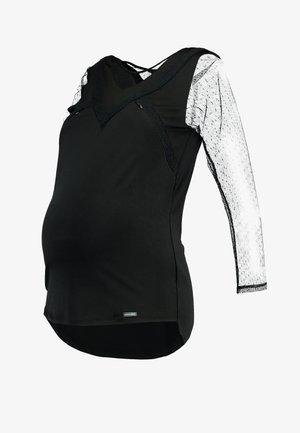NURSING - Top sdlouhým rukávem - black