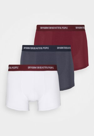 CORBIN 3 PACK - Pants - white/dark blue/bordeaux