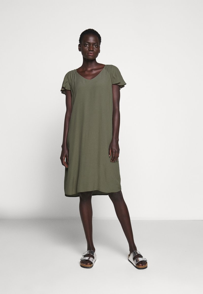 Bruuns Bazaar - LILLI FENIJA DRESS - Day dress - olive tree