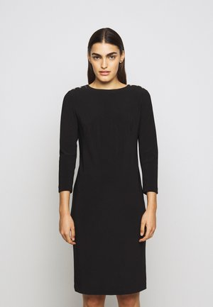 BONDED DRESS TRIM - Shift dress - black