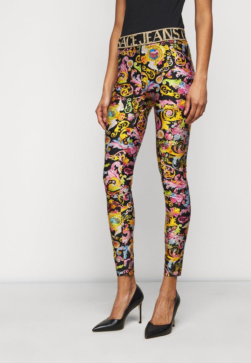 Versace Jeans Couture - LADY FUSEAUX - Legginsy - black