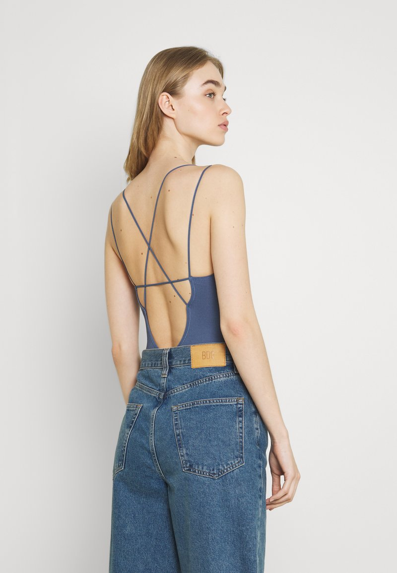 BDG Urban Outfitters - STRAPPY BUNGEE BODY THONG STRAP - Top - navy