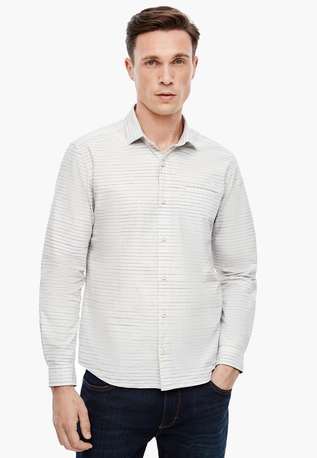 LANGARM - Shirt - cream stripes