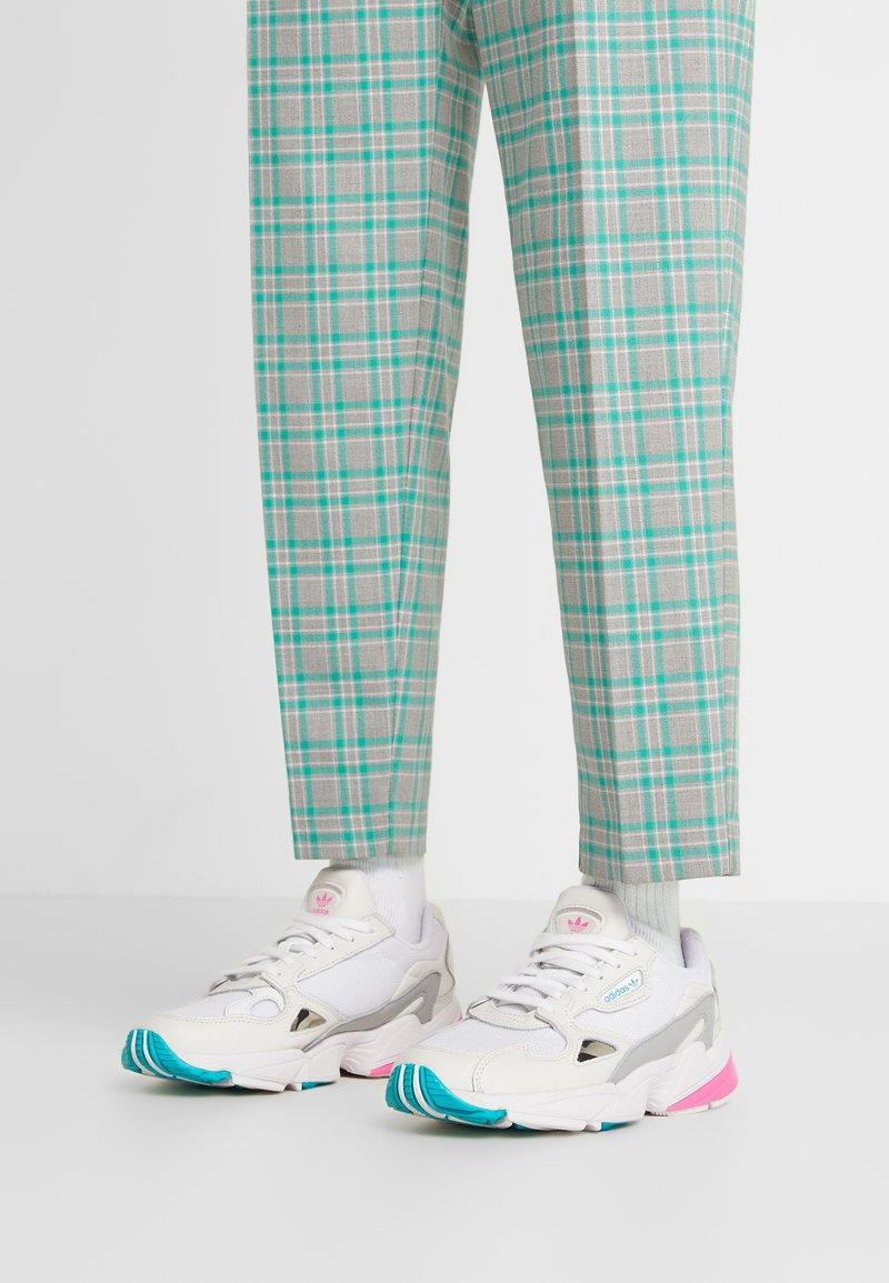 adidas Originals - FALCON - Trainers - footwear white/solar pink/silver metallic