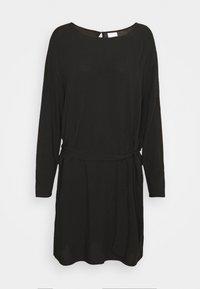 Vila - VISAY TIE BELT DRESS - Day dress - black - 4