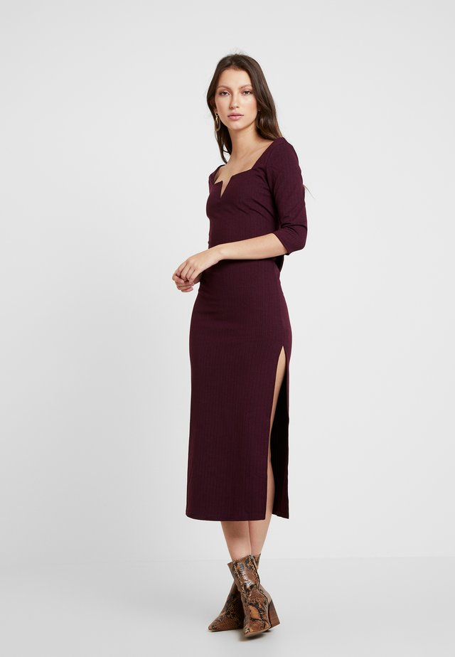 3/4 DRESS - Shift dress - plum