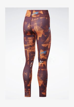 WORKOUT READY MYT PRINTED LEGGINGS - Tights - burgundy