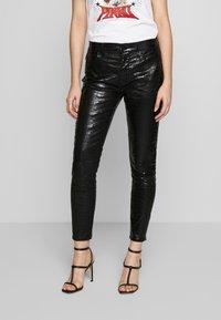 Frame Denim - LE HIGH CROC - Jeans Skinny - noir - 0