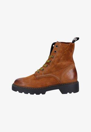 Platform ankle boots - cognac/sahara
