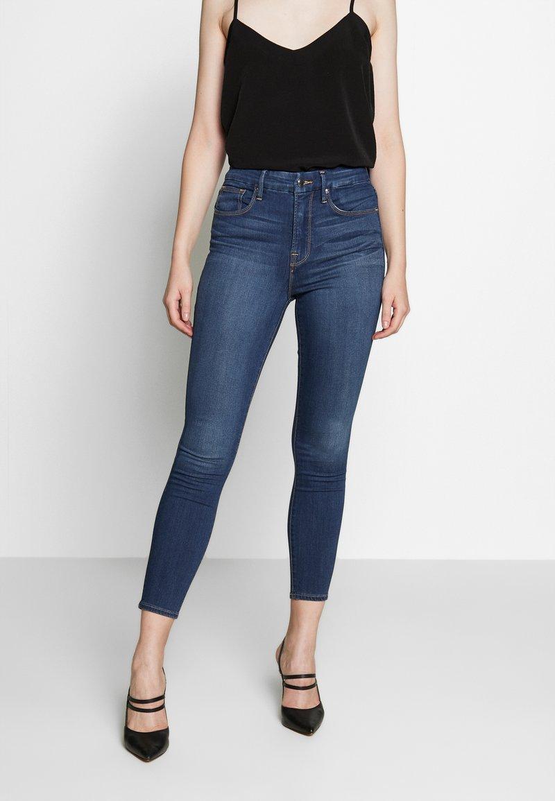 Good American - GOOD WAIST CROP - Jeans Skinny Fit - blue denim