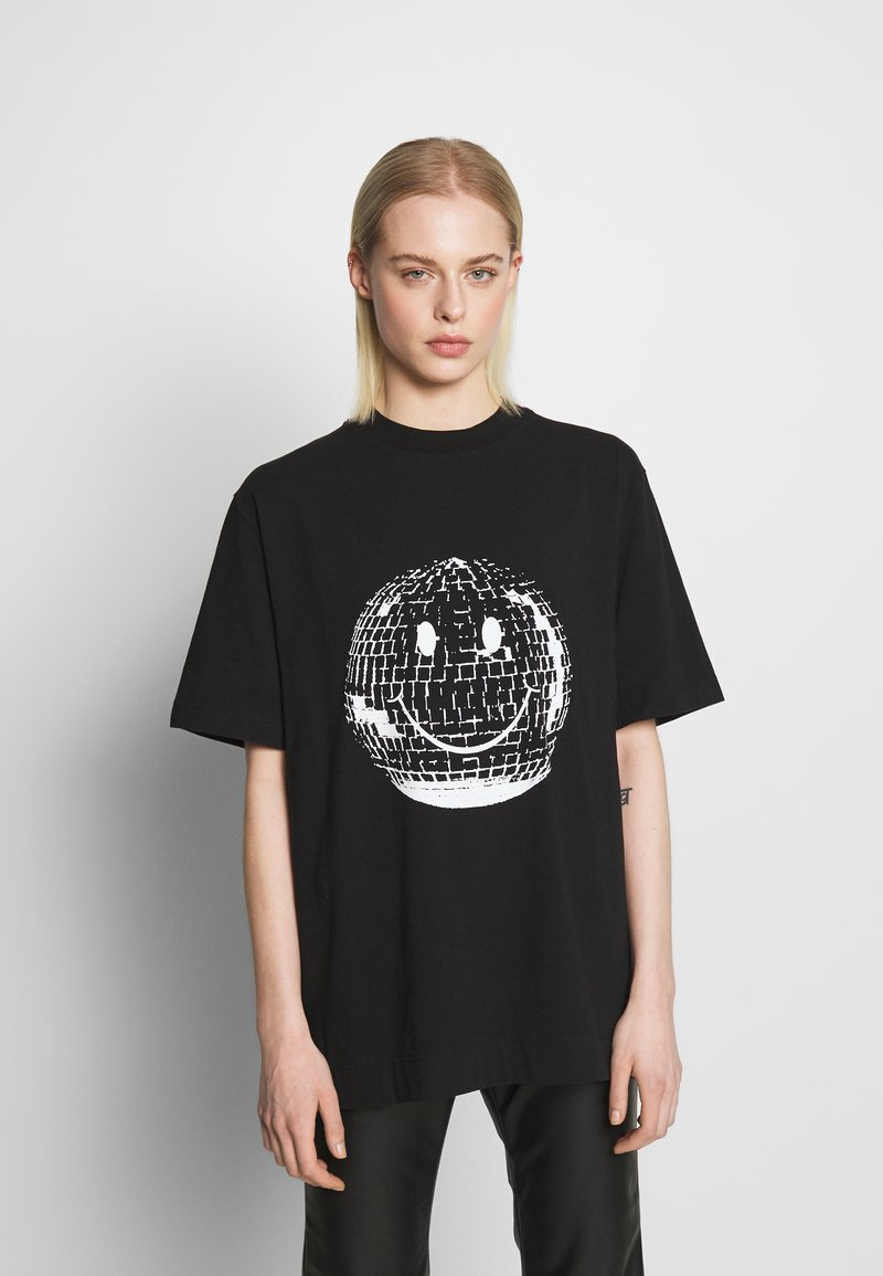 House of Holland - SMILE OVERSIZED - Print T-shirt - black
