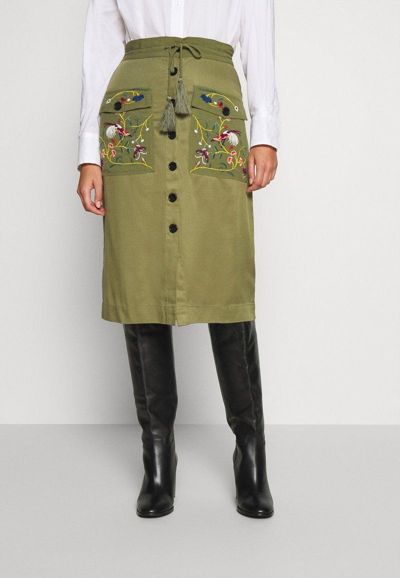 Desigual - FAL BYRON - A-line skirt - kaki