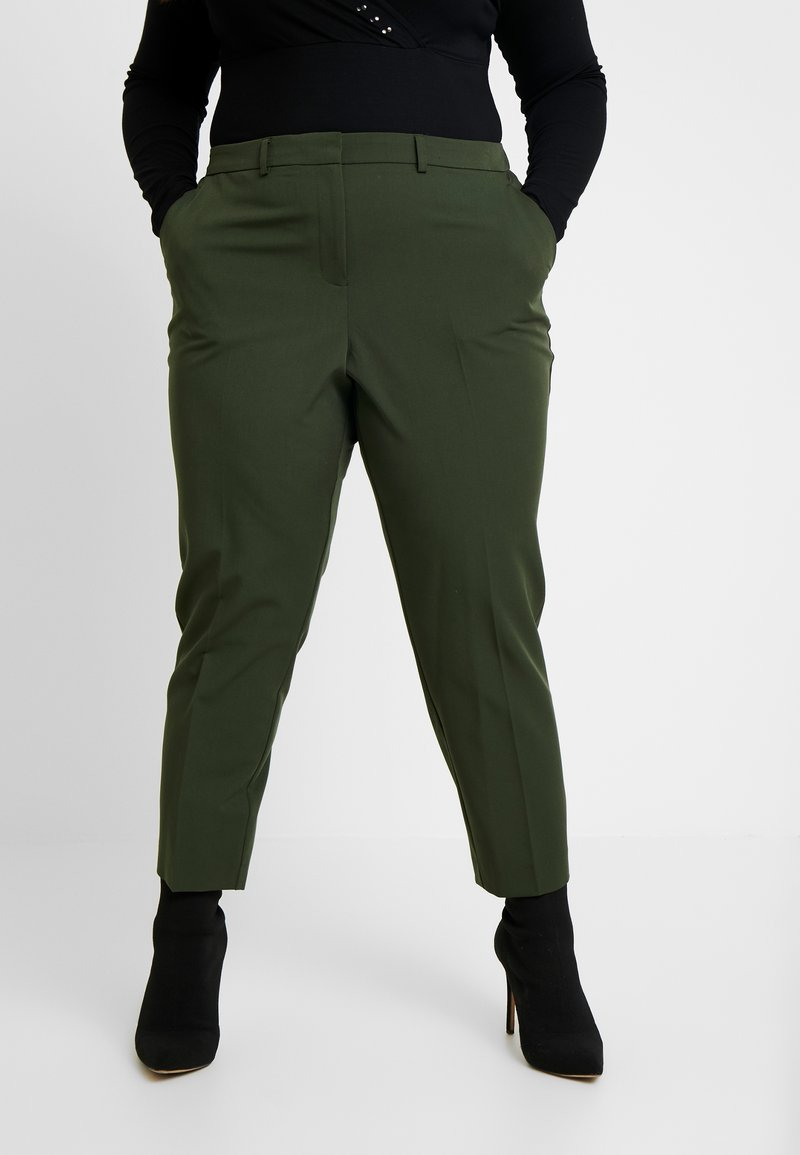 Dorothy Perkins Curve - FOREST ANKLE GRAZER - Trousers - green