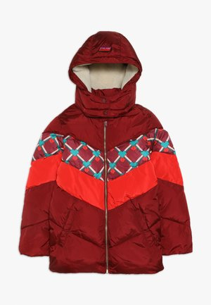 PADDED JACKET WITH COLOUR BLOCK AND DETACHABLE - Winterjacke - plum