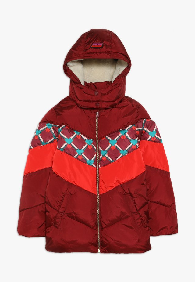 PADDED JACKET WITH COLOUR BLOCK AND DETACHABLE - Chaqueta de invierno - plum
