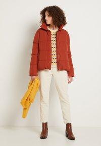 TOM TAILOR DENIM - CIGARETTE CORDUROY PANTS - Trousers - soft creme beige - 2