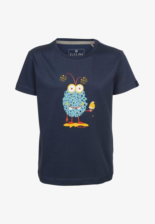 Print T-shirt - darkblue