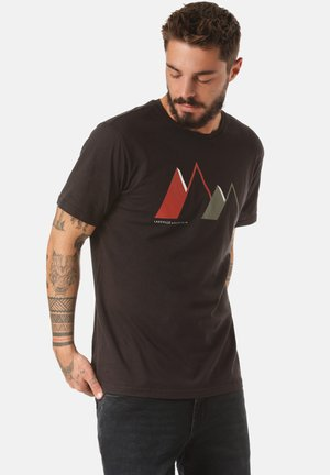 JORIS - Print T-shirt - black
