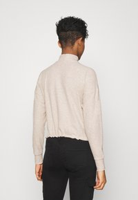 ONLY - ONLNELLA PULLSTRING CREWNECK - Long sleeved top - pumice stone - 2