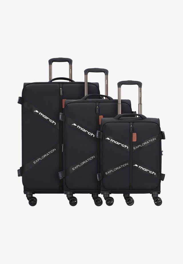 3 SET - Luggage set - black