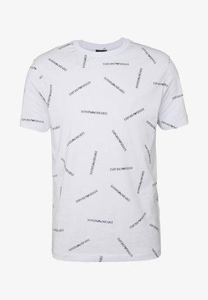 Camiseta estampada - bianco/nero