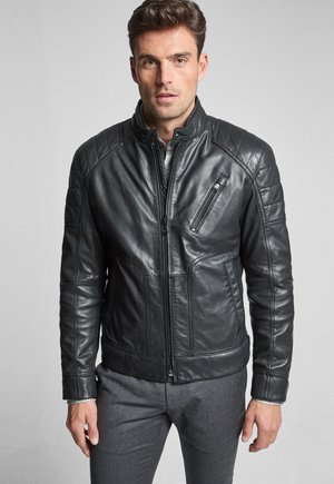 LIMA - Leather jacket - schwarz
